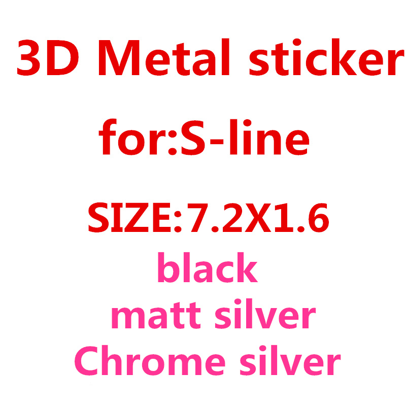 2X New Metal Auto Car Chrome Matt Silver Black Badge For Audi S Line Sline A4 S4 RS4 A6 TT A3 Emblem Badge Sticker