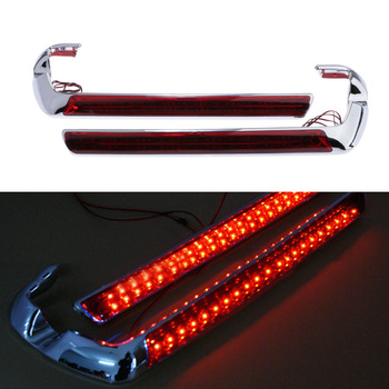 1 Pair Motorcycle Saddlebag Housing Tail Light Lamp LED Red / Smoke Lens For Harley Electra/FLHX/FLHXS/Touring 2014-2018