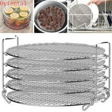 Grill Stand 5 Layers Stainless Steel Round Grill Net Barbecue BBQ Meshes Cooling Rack Camping Outdoor Wire Net Food Drying Rack