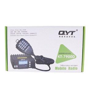 Image 5 - 2020 Versão mais recente Mini Rádio Móvel QYT KT 7900D 25W Quad Band 144/220/350/440MHz KT7900D UV transceptor ou com fonte de Alimentação