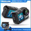 Keelead Action Camera K80 4K Dual Screen WiFi 5m Body Waterproof 60FPS 20MP 2.0 Touch LCD EIS Remote Control 4X Zoom Sports Cam