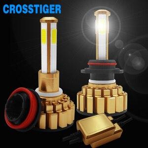 Image 2 - 12000Lm 6500K H4 LED H7 hb4 9006 hb3 9005 H8 H11 Auto Auto Scheinwerfer Lampen 4 Seite Chip Leds auto Lichter Lampen LED H4 H7 Auto Lampen