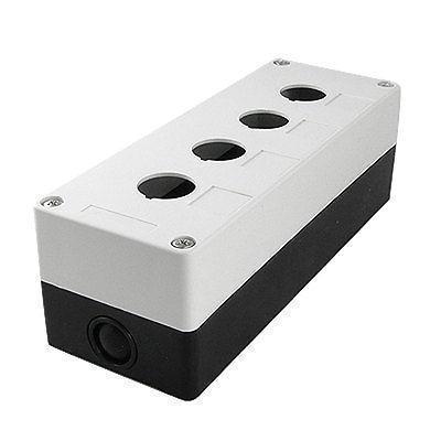 White Black Plastic 4 Holes Push Button Switch Control Box