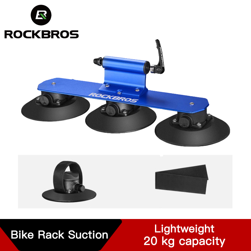 Rockbros クイックインストールバイク屋根ラックバイク自転車ラック吸引屋根トップバイクラックキャリア MTB マウンテンロードバイクアクセサリー -