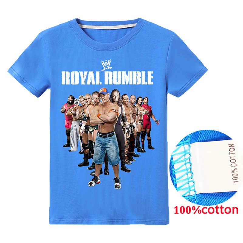 Wwe Baby Jongens Toy Story Thanksgiving Kleding Kleding Voor Grote Kinderen John Cena Cartoon T-shirt Meisjes Tops Katoenen T-shirt kleding