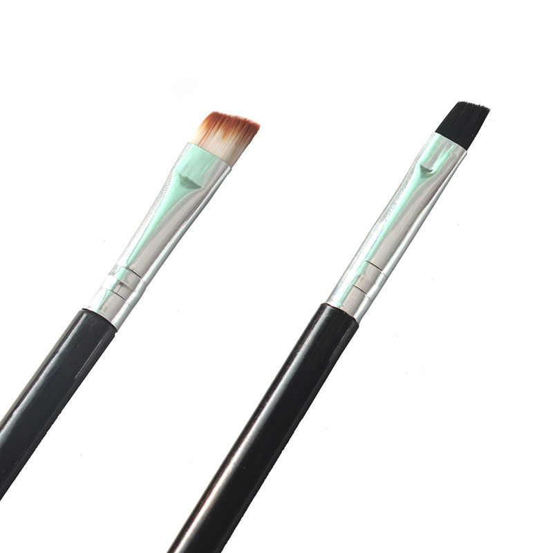 2 adet kaş fırçası profesyonel kaş maskara fırçası tarak makyaj fırçalar güzellik kaş kalemi aracı ve aksesuarları