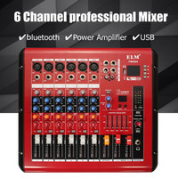 6 Channels bluetooth Sound Mixing Console Record 48V Phantom Power Monitor Digital DPS Effects Digital Audio Mixer with MP3 USB
