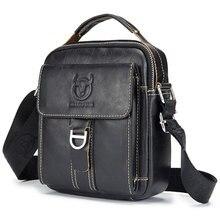 100% Genuine Leather Men Bag Business Messenger Bag