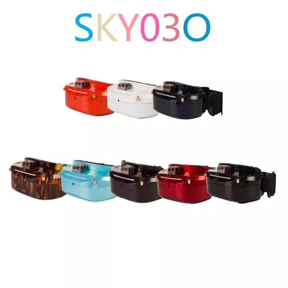Skyzone SKY03O Oled 5.8GHz Diversità 48CH Occhiali Occhiali FPV OSD Supporto DVR HDMI Con La Testa Tracker Fan LED Per RC da corsa Drone