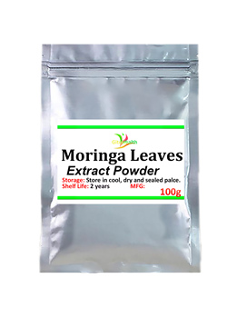100g-1000g Moringa leaves extract can reduce blood pressure, anti-tumor, anti-aging and enhance immunity, improve sleep and memo