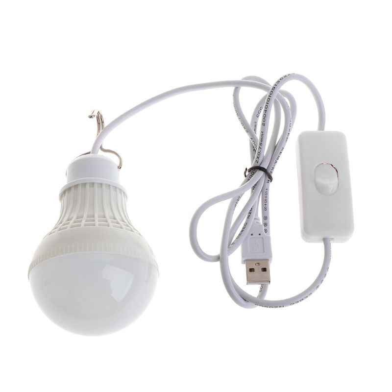 5 w 10 led de poupança energia usb lâmpada luz acampamento casa noite interruptor gancho suporte do navio da gota