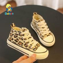 Babaya crianças sapatos de lona menina sapatos casuais moda sneakerrs respirável 2019 outono novo padrão leopardo impressão do miúdo sapatos
