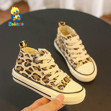 babaya Children Canvas Shoes Girl Casual Shoes Fashion Sneakerrs Breathable 2019 Autumn New Pattern Leopard Print Kid Shoes