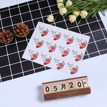 120pcs/lot Lovely  Rose Flower Adhesive Seal label Round Thank you Handmade Gift sticker