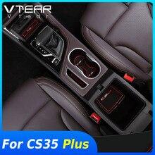 Vtear para changan cs35 plus slot para porta anti deslizamento almofada copo do carro interior buraco tapete capa decoração estilo acessórios peças 2020
