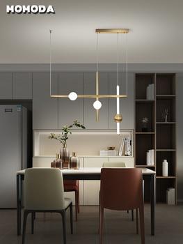 Moderno colgante LED luces de diseño Simple Latón de lujo lámparas colgantes para dormitorio comedor arte de sala de estar Decoración de casa