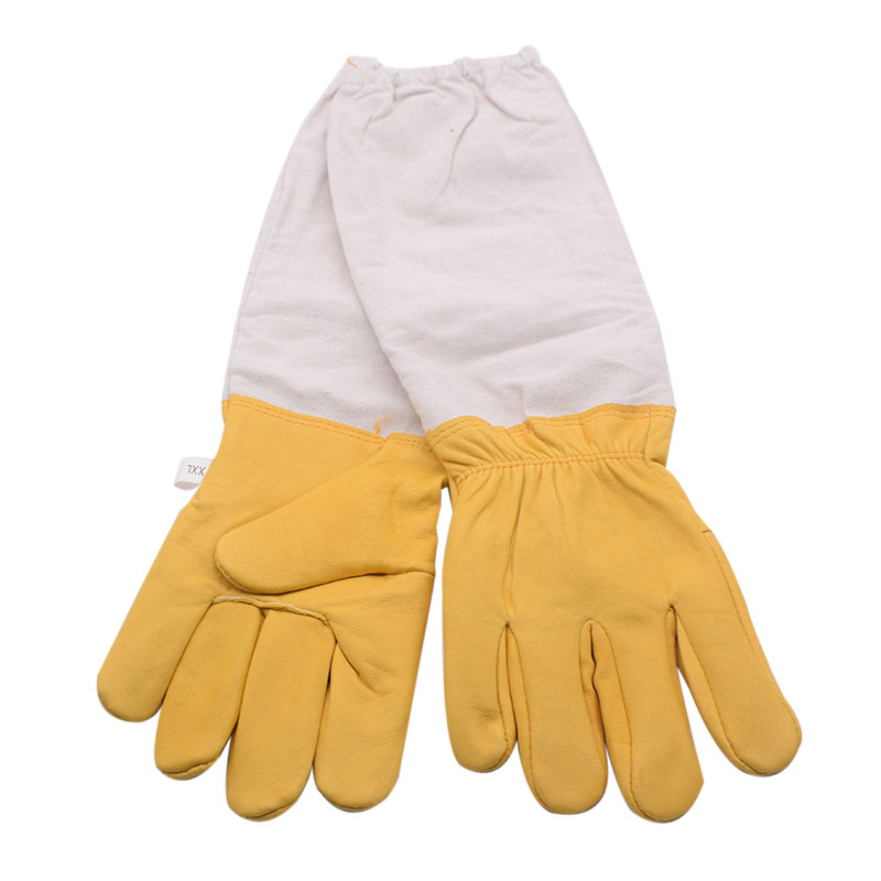 Image 3 - Yellow Gloves Sheepskin Anti Bee Beekeeping Tools For Beekeeper Protective Glove Canvas Beekeeping Equipment Parts 2020NewProtective Clothing Accessories   -
