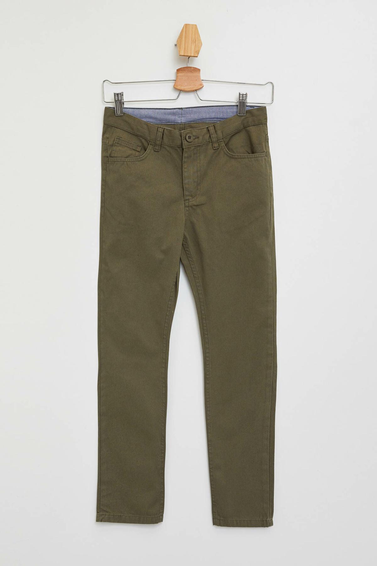 DeFacto Boy Autumn Solid Color Long Pants Boys Casual Mid-waist Bottoms Kids Fit Slim Trousers-K6811A619AU