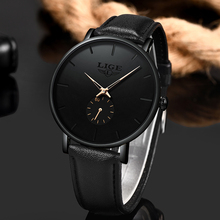 LIGE New Fashion Sports Mens Watches Top Brand Luxury Waterproof Simple Ultra-Thin Watch Men Quartz Clock Relogio Masculino 2019 new fashion guanqin mens watches top brand luxury gold steel clock male simple ultra thin unisex quartz watch relogio masculino