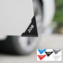 Para peugeot 208 protetor de porta do carro capa silicone acidente proteção da porta do carro risco acessórios do carro