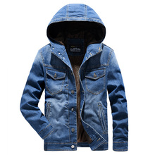 New Fashion Hoodies Jeans Jackets Men Casual Hooded Coat Autumn Comfortable Men's Clothing Outwear Denim Jackets M-4XL  MY191