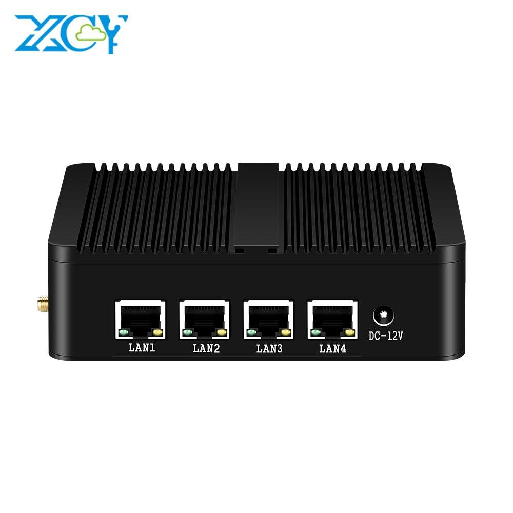Mini PC Fanless 4x1000Mbps Ethernet LAN Celeron J1900 J1800 N2810 PFsense Windows Firewall Router WiFi Industrial Computer