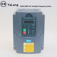 3KW 220V 380V AC Variable Frequency Drive VFD Inverter for 3.0KW spindle 3000W vfd for cnc driver