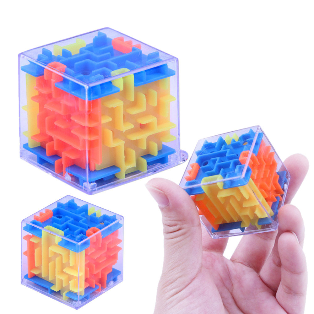 Funny 3D Cube Puzzle Maze Toy Hand Game Speed Cube Puzzle Game Labyrinth Ball Toys Challenge Finger Toys Gifts For Kid J0131