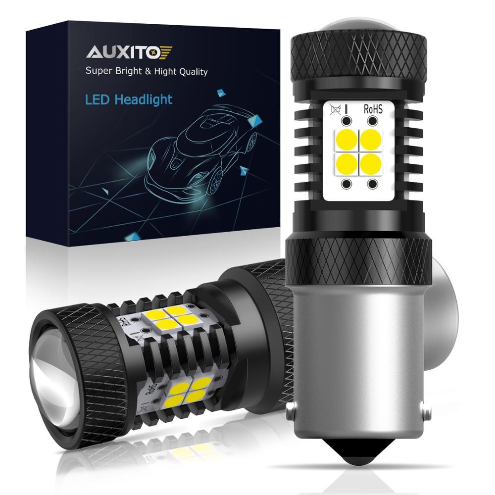 2 шт. P21W светодиодный 1156 BA15S 7506 R10W светодиодный лампы автомобиля светильник s 1500Lm сигнал поворота фара LED фонарь стоп-сигнала R5W 3030 дневные ход...