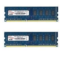 Kamosen ddr3l ram 4gb 8gb 1600mhz brandnew baixa tensão 1.35v azul PC3-12800U memória de mesa dimm 240 pinos não-ecc