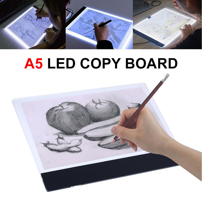 A4/<font><b>A5</b></font> <font><b>LED</b></font> Writing Digital Drawing Tablet Graphic Tablets <font><b>LED</b></font> <font><b>Light</b></font> Box <font><b>Pad</b></font> Electronic USB Tracing Art Copy Board Painting Table image