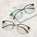Дизайнерские очки, оптические оправы, металлическая оправа для очков, прозрачные линзы, очки, черные, серебристые, золотистые очки