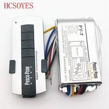 LED3 yol uzaktan kumandalı anahtar denetleyici 1000W * 3CH yüksek gerilim anahtarı paket kontrol kablosuz RF hassas uzaktan kumanda anahtarı