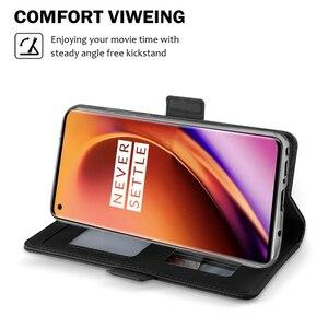 Image 4 - Funda de piel sintética para OnePlus 8 8 Pro, soporte con tapa, espejo de hebilla magnética, BILLETERA, funda para OnePlus 7T 7T Pro, ranuras para tarjetas