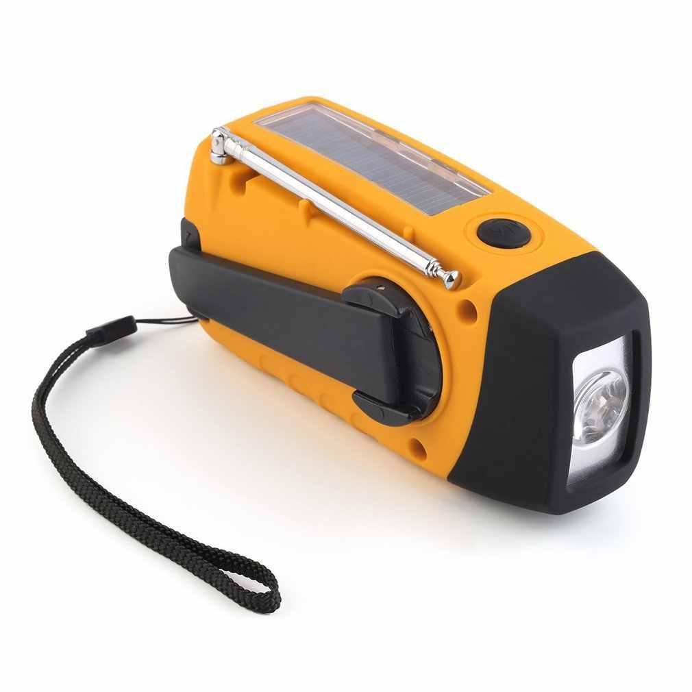 Portátil ao ar livre lanterna recarregável mp3 player de música áudio fm rádio lanterna altifalante