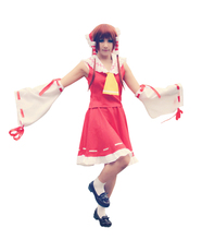 цена на Brdwn TouHou Project Scarlet Weather Rhapsody Hakurei Reimu Cosplay Costume Kimono Style Witch Suit