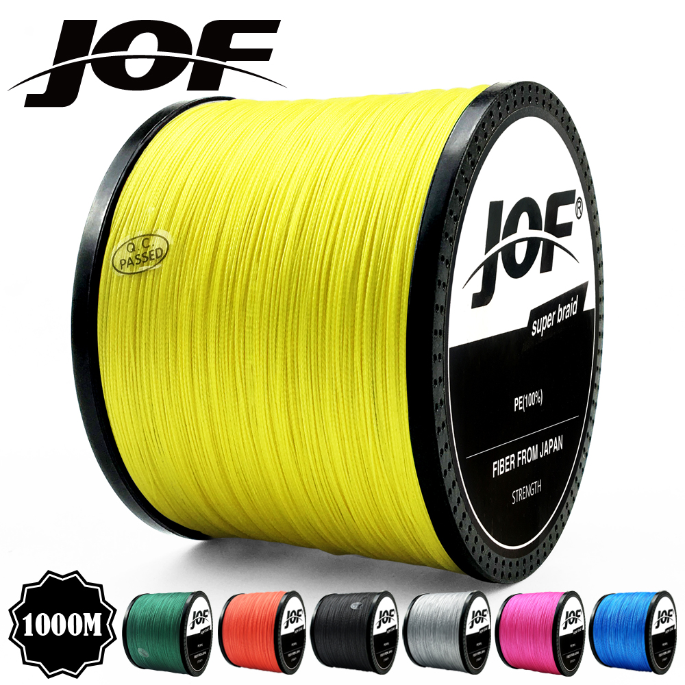 JOF 300M 500M 1000M <font><b>PE</b></font> Fishing Line <font><b>4</b></font> Strands Braided Fishing Line 10-82LB Multifilament Fishing Line Smooth image