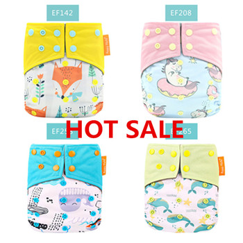 Baby Diapers Environmentally Friendly Material do not Harm Skin Nappies Cloth Diaper Washable Infants Children Cotton
