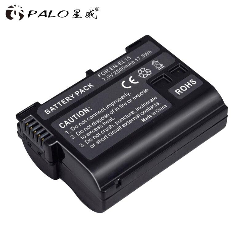 Alta calidad 2500mAh EN-EL15 ENEL15 es EL15 decodificado de batería de la cámara para Nikon DSLR D600 D610 D800 D800E D810 D7000 D7100 D7200 V1