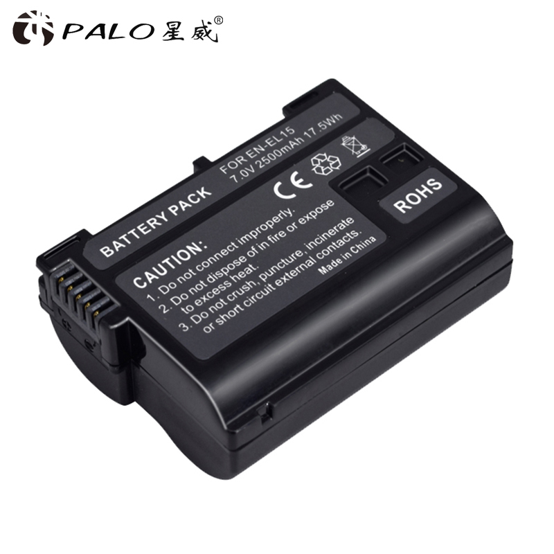 Hoge Kwaliteit 2500 Mah EN-EL15 ENEL15 En EL15 Gedecodeerd Camera Batterij Voor Nikon Dslr D600 D610 D800 D800E D810 D7000 d7100 D7200 V1