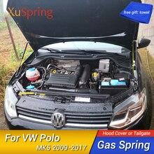 Refit กระโปรงสปริงแรงกระแทก Strut บาร์สนับสนุน Hraulic Rod รถสำหรับ VW Polo 2009 2010 2012 2013 2015 2017 MK5