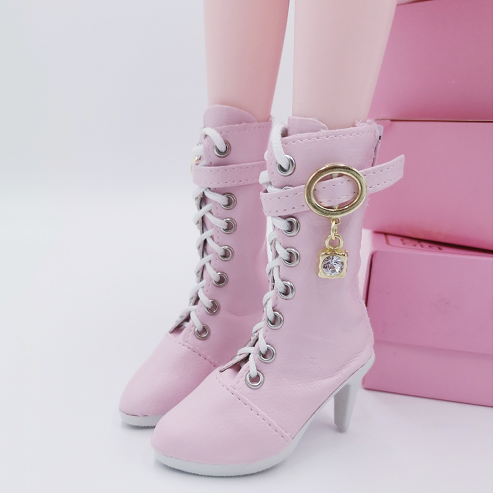 60cm Doll Lace-up Boots 3 Points BJD Doll Salon Doll Boots Girl Doll Toy Accessories