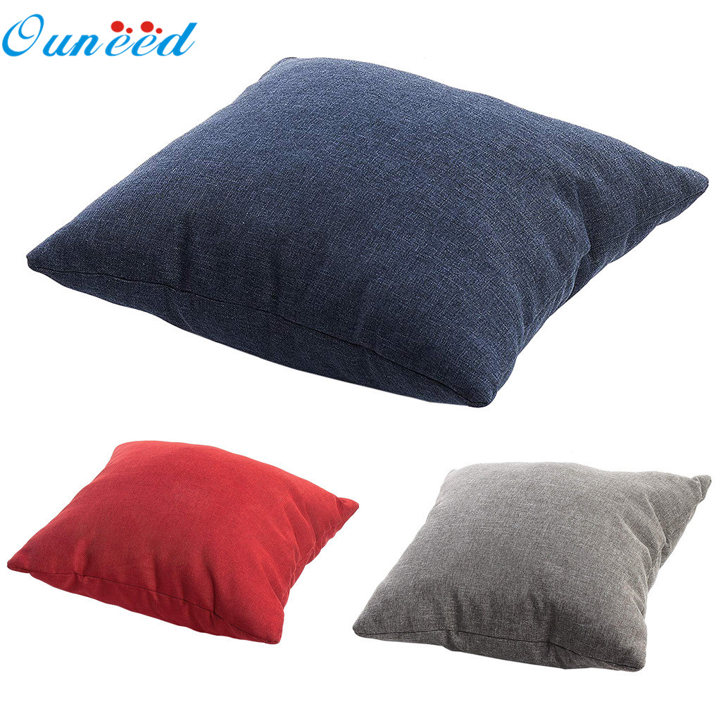 Cuscini Divano.Ouneed Seat Cushion 40 40cm Solid Color Double Sided Pillows Chair