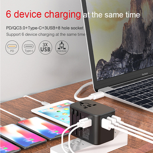 Image 5 - Dual Type C PD QC USB All in one charger adapter for travel with EU US UK AU plug universal travel power charger sockets
