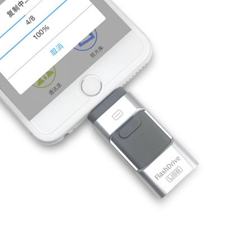 USB Flash Drive USB Pendrive For IPhone Xs Max X 8 7 6 IPad 16/32/64/128 GB Memory Stick USB Key MFi Lightning Pen Drive