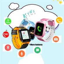 스마트 워치 어린이 터치 스크린 카메라 위치 어린이 시계 SOS 전화 위치 안티 분실 알림 아기 시계 시계
