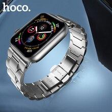 HOCO 2019 Roestvrij Stalen Band voor Apple Horloge Band 40mm 44mm Metalen Links Armband Smart Horloge Band voor ik Horloge Serie 4 3 2 1