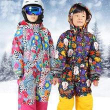 Детские лыжные костюмы комбинезоны Мультяшные флисовые теплые