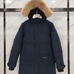 2020 Canada Top Brand 90% White Goose Men's Down Jacket Winter Warm Parka Waterproof Fox Fur Hoodie Men Down Jacket