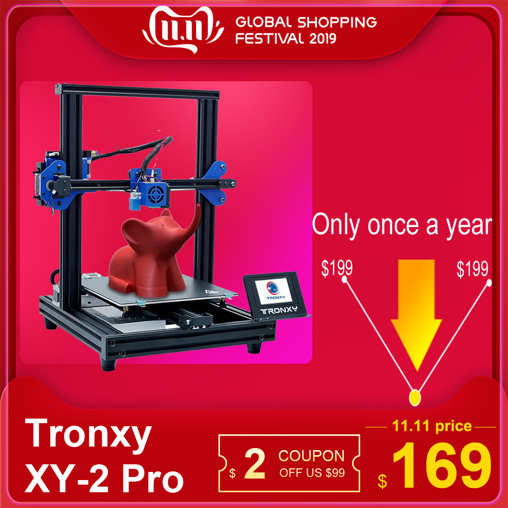 TRONXY XY 2 Pro 3D Printer Kit Fast Assembly 255*255*260mm Build Volume Auto Leveling Resume Print Filament Run Out Detection-in 3D Printers from Computer & Office